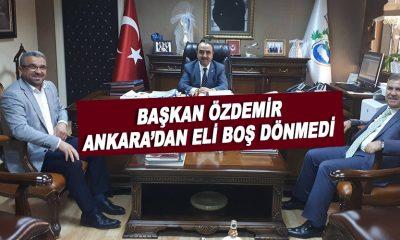 Başkan Özdemir Ankara'dan eli boş dönmedi