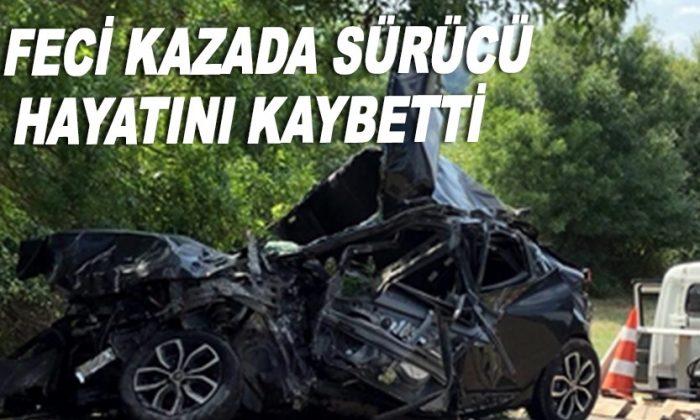 Feci kazada sürücü hayatını kaybetti