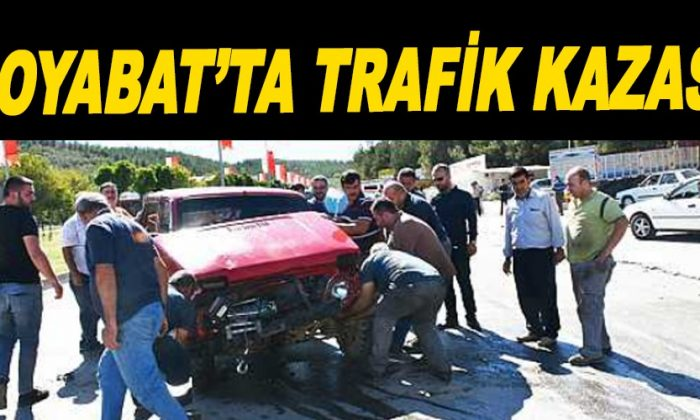 Boyabat'ta trafik kazası: 2 yaralı
