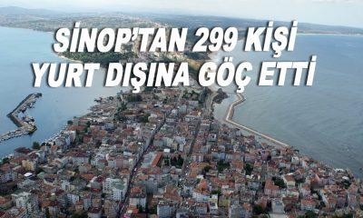 Sinop'tan 299 kişi yurt dışına göç etti
