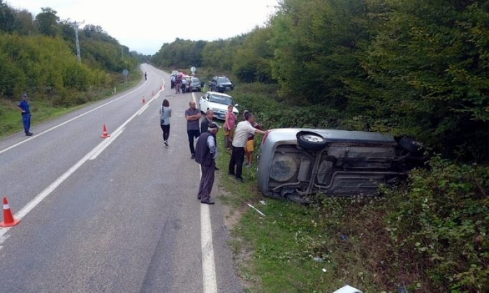 Sinop yolunda kaza