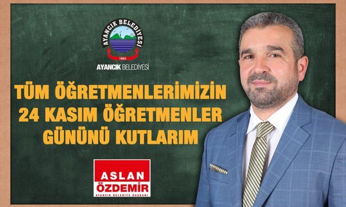 Ayancık Belediye Başkanı Özdemir Öğretmenler Gününü Kutladı