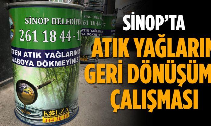 Sinop Belediyesi'nden Atık Yağ Toplama Çalışması