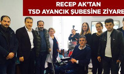 Recep AK'tan TSD Ayancık Şubesine Ziyaret