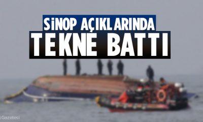 Sinop'a Kayıtlı Balıkçı Teknesi Battı
