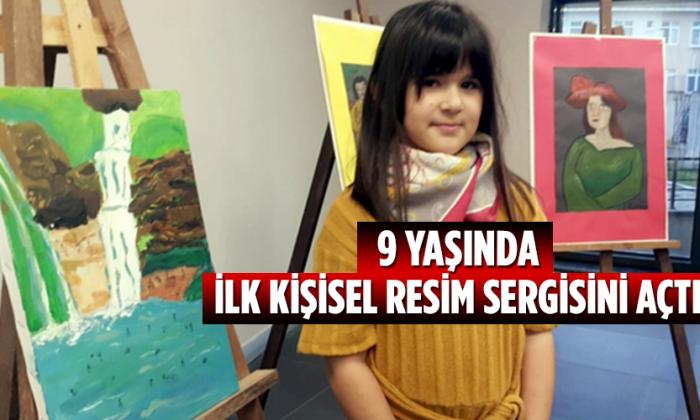 9 Yaşında, ilk kişisel resim sergisini açtı