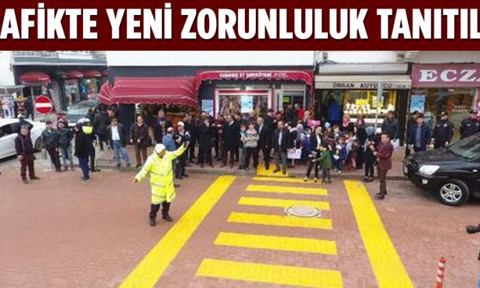 Trafikte yeni zorunluluk Sinop'ta tanıtıldı
