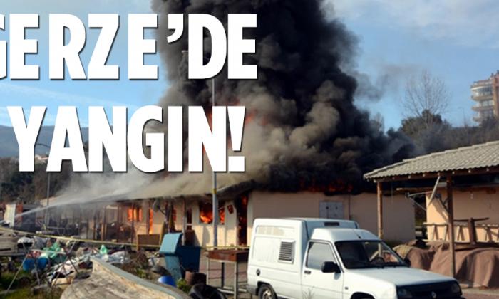Gerze'de Yangın Paniği