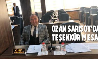 Ozan Sarısoy'dan Teşekkür Mesajı