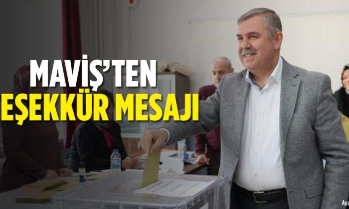 Nazım Maviş'ten Teşekkür Mesajı