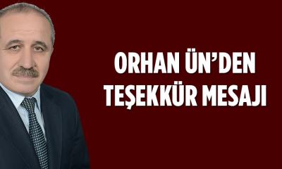 Orhan Ün'den Teşekkür Mesajı