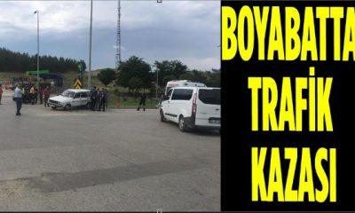 Boyabat Sanayi Kavşağında Trafik Kazası