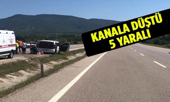 Boyabat Sinop Yolunda Kaza 5 yaralı