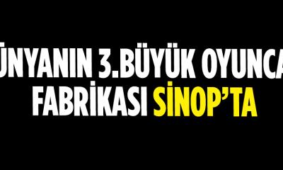 Dünyanın 3. büyük oyuncak firması Sinop'ta üretim yapacak