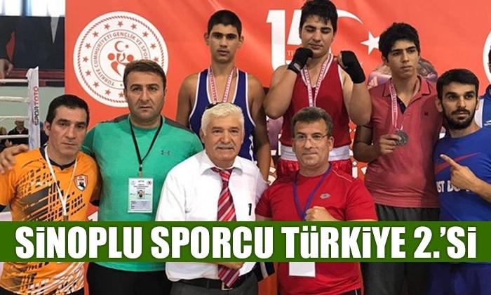 Sinoplu Sporcu Türkiye İkincisi Oldu