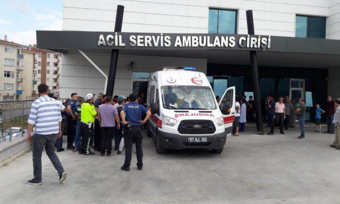 Boyabat Devlet Hastanesi Önünde Arbede Çıktı