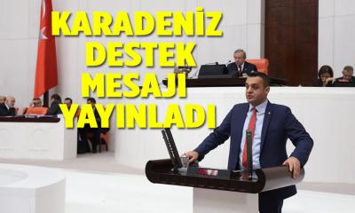 Karadeniz destek mesajı yayınladı