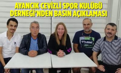 Ayancık Cevizli Spor Kulübü Derneği'nden basın açıklaması