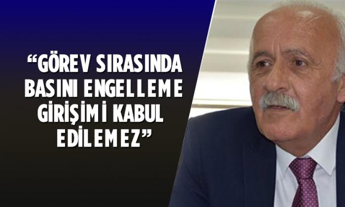 """Başkan Demirel """" Görev sırasında basını engelleme girişimlerini kabul edemeyiz."""""""