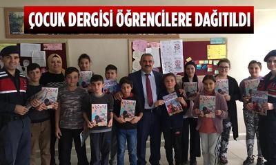 Çocuk Dergisi öğrencilere dağıtıldı