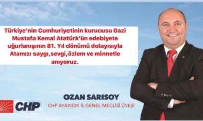 Sarısoy'dan 10 Kasım Mesajı