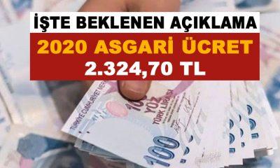 2020 Asgari Ücreti Belli Oldu: 2.324 TL