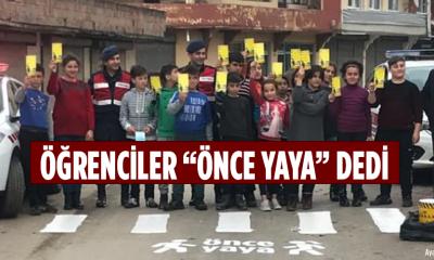 """ÖĞRENCİLER """"ÖNCE YAYA"""" DEDİ"""