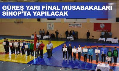Güreş Yarı Final Müsabakaları Sinop'ta Yapılacak