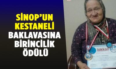 Sinop'un Kestaneli Baklavasına Birincilik Ödülü