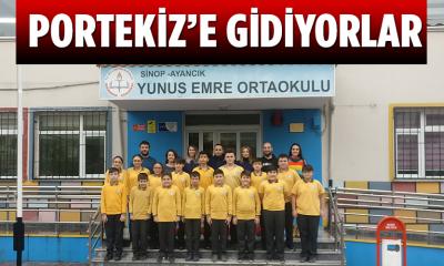 Ayancık Yunus Emre Ortaokulu Portekiz'e Gidiyor