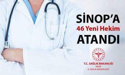 SİNOP'A 46 YENİ HEKİM ATANDI
