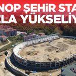 Sinop Stad İnşaatı Hızla Yükseliyor