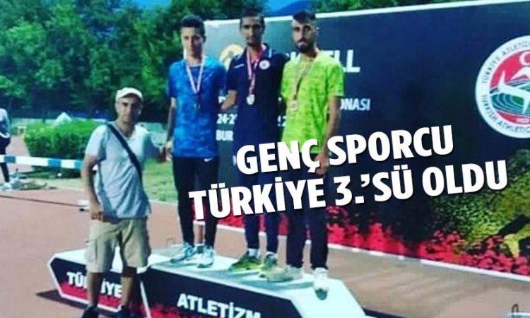 GENÇ SPORCU TÜRKİYE 3.'SÜ OLDU