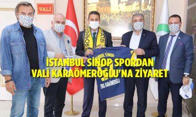 İSTANBUL SİNOP SPORDAN VALİ KARAÖMEROĞLU'NA ZİYARET