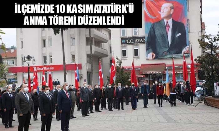 Ayancık'ta 10 Kasım Atatürk'ü Anma Töreni Düzenlendi