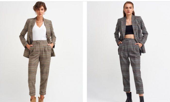 Ekose Pantolon Modelleri