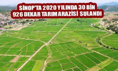 Sinop'ta 2020 Yılında 30 Bin 926 Dekar Tarım Arazisi  Sulandı