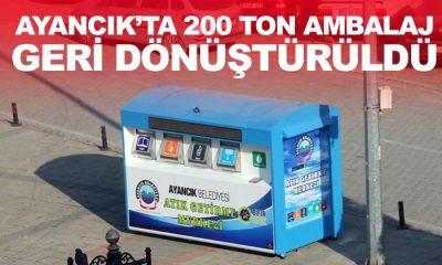 Ayancık'ta 200 Ton Ambalaj Geri Dönüştürüldü