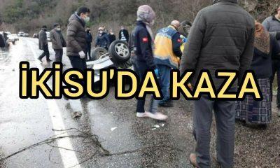 Ayancık İkisu'da Trafik Kazası