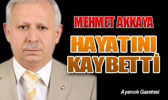 Nüfus Müdürlüğü'nden Emekli Mehmet AKKAYA Hayatını Kaybetti