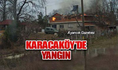 Karacaköy'de Yangın Çıktı
