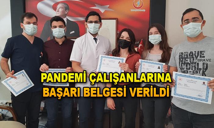 PANDEMİ CALIŞANLARINA BAŞARI BELGESİ