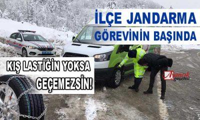 """Ayancık İlçe Jandarma """"Kış Lastiği Kullanın Yolunuz Açık Olsun"""""""