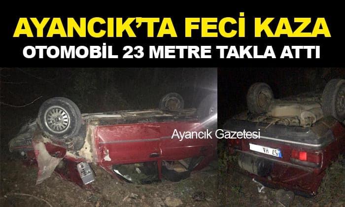 Türkeli-Ayancık Yolunda Kaza; 1 Ağır Yaralı