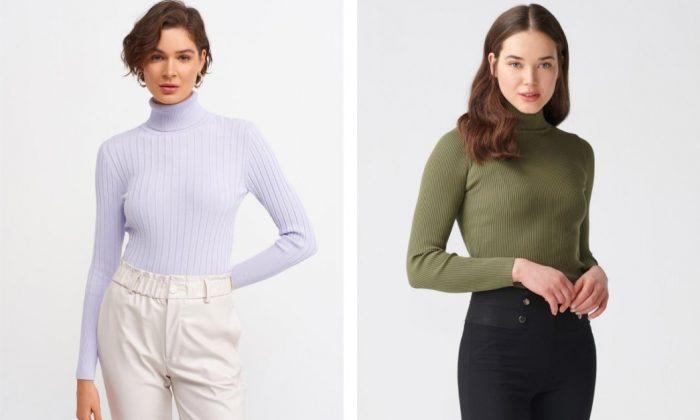 Sezonun Boğazlı Kazak Modelleri