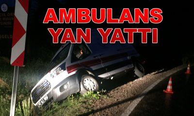 Türkeli Devlet Hastanesi'nin Ambulansı kaza yaptı