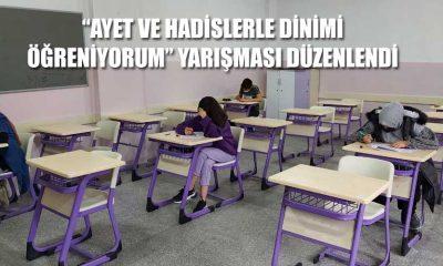 """""""AYET VE HADİSLERLE DİNİMİ  ÖĞRENİYORUM"""" YARIŞMASI DÜZENLENDİ"""