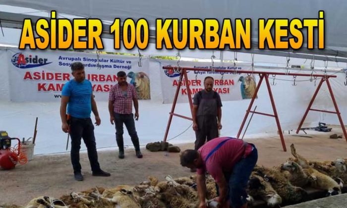 ASiDER Sinop'ta 100 kurban kesti