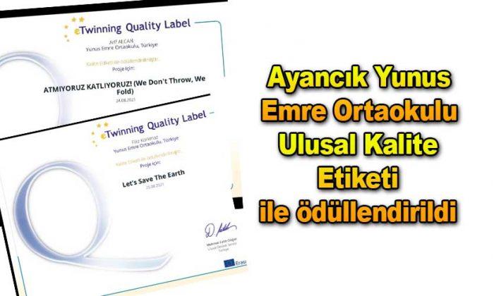 Ulusal Kalite Etiketi ile ödüllendirildi