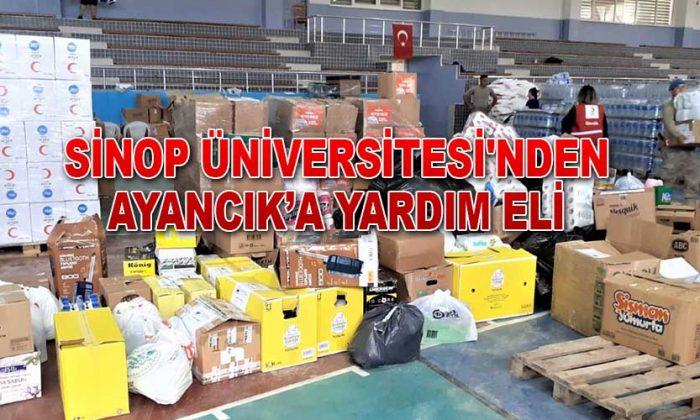Sinop Üniversitesi'nden Ayancık'a Yardım Eli